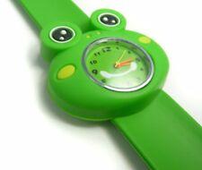 Quality Green Frog Girls Boys Kids Wrist Watch Easy Strap Slap wristwatch QTY