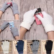 Women Winter Knit Gloves Warm Gloves Outdoor Hiking Driving Gloves Mittens Kit