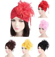 Muslim Women Hijab Hat Islamic Flower Cap Underscarf Arab Headwear Turban Chemo