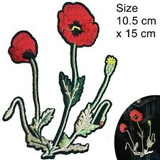 Poppy flower Iron on patch remembrance ANZAC lest we forget war iron-on patches