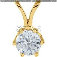 1.72 ct FANCY Off White Yellow Real Moissanite .925 Sterling Silver Pendant I01