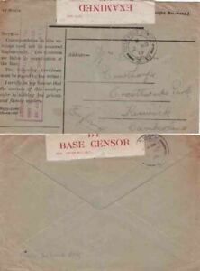 G.B. 1915 OAS but not signed FPO 3B and with scarcer cachet {See Below}