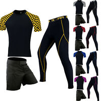 ROAR MMA Short BJJ Training Long Sleeve Rash Guard Grappling Compression Legging