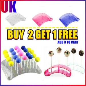 20 Holes Acrylic Lollipop Cake Pop Stand Holder Wedding Server Color Cake Pop UK