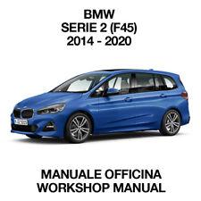 BMW SERIE 2 F45 216d. Service Manuale Officina Riparazione Workshop Manual ENG