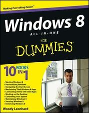 Windows 8 All-in-One For Dummies, Leonhard, Woody, Good Condition, Book