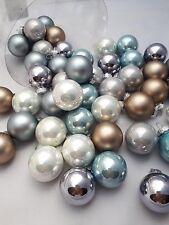 45 Kugeln Eiskristall Blau Weihnachtsschmuck Weihnachsdeko Hänger Weihnachten