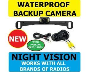 Waterproof License Plate Mount  Reverse Rear Nite View Color Car Backup Camera