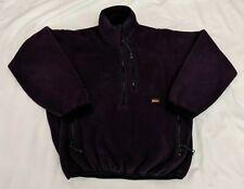 Vintage Rei Mens Thaw Fleece Pullover Sz S Purple