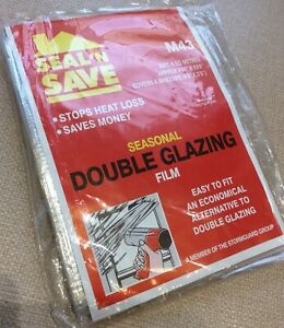 "Seal'N Save Seasonal Double Glazing Film 6 SQ Meters covers 4 Windows (4'6""x3'0)"