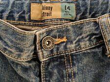 OLD NAVY Skinny Etroit Elasticated Waist Husky Custard Jeans Size 14 W27 L29 VGC