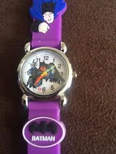 BATMAN bambini ragazzi ragazze polso orologio analogico cinturino in silicone BAT MAN purpleslim