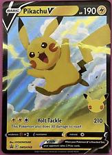 Pokemon - Pikachu V SWSH143 Celebrations 25th Anniversary Black Star Promo - New