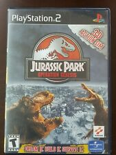 JURASSIC PARK OPERATION GENESIS Rare Playstation 2 Game Hard to Find COMPLETE!