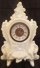 Vintage German Narco Ceramic Mantel Clock Working