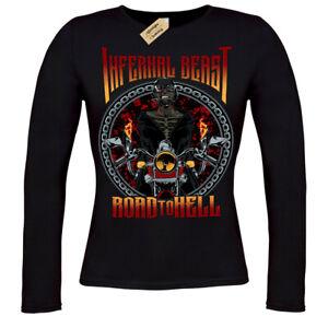 Infernal beast T-Shirt biker road to hellT-Shirt ladies long sleeve