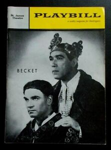 Becket Playbill programme St James Theatre 1960 Laurence Olivier Anthony Quinn