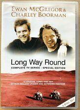 Long Way Round DVD Epic Worldwide Motorcycle Bike Trek 3-Disc Special Edition