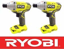 (2) NEW RYOBI 18 VOLT LITHIUM-ION CORDLESS IMPACT DRIVER GUNS BARE TOOL P235