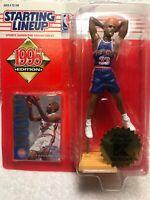 Vintage 1995 🏀NBA Kenner Starting Lineup Grant Hill Detroit Pistons Rookie Nib