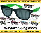 Mens Womens Wayfarer Sunglasses Coloured Arms Men 80s Classic Retro Sunnies