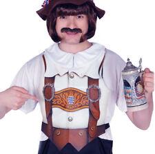 Adult Oktoberfest Bavarian Beer Man German Apron Vest Fancy Dress Costume Brown