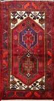 3x5 Tribal Hamedan Hand-knotted Area Rug Geometric Oriental Wool Kitchen Carpet