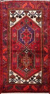 3x5 Tribal Hamedan Hand-knotted Area Rug Geometric Oriental Wool Kitchen Carpet