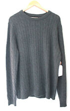 NWT Elliot Mulryan 100% Cashmere Green Men's Cable Knit Classic Sweater XL $298