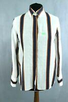 MASSIMO DUTTI Multicolor Striped Collared Button-Up Women Shirt Size 36 EU S