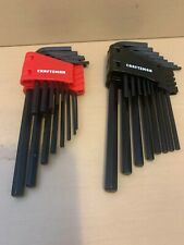 Craftsman 28pc Hex Key Allen Wrench Set Metric SAE -- With Bi-fold Carry Case