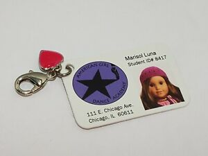 American Girl Doll Marisol Luna Replacement Dance Academy Photo ID Tag W/ Charm