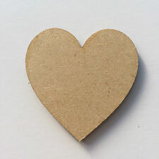 3mm Wooden Blank Shapes Hearts Stars Butterfly Embellishments Craft Decoration Hearts 20mm 5