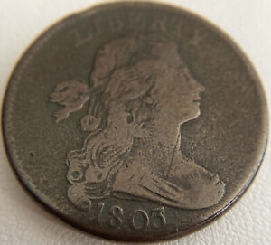 1803 Draped Bust Large Cent Small Date Small Fraction Looks To Have VF Details