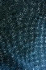 "Black Indigo Kasuri Nagai-Tsumugi Vintage Japanese Kimono Silk Fabric LAST 50"""