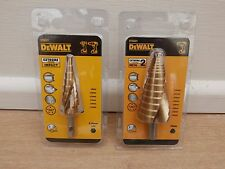 PAIR OF DEWALT IMPACT RATED EXTREME HOLE ENLARGER STEP DRILLS DT5027 DT5031