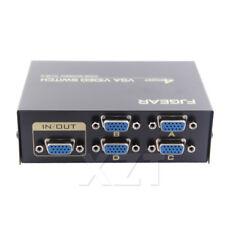 KVM Switch 4 Port VGA SVGA Video HD Signal Amplifier Booster Splitter Monitors