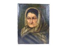 Portrait Gemälde Bild Öl auf Leinwand 19 Jh. signiert Sammlungsauflösung