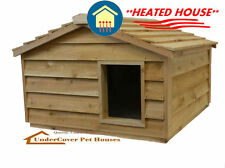 HEATED EXTRA LARGE INSULATED CEDAR OUTDOOR CAT HOUSE,SMALL DOG,FERAL SHELTER