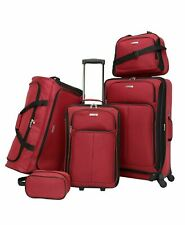 $300 TAG Ridgefield Red 5 PC Luggage Set Expandable Suitcase Lightweight