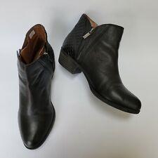 Lucky Brand Womens Booties Shoes Heels 2 Side Zip Black Brenono Size US 9 EU 39