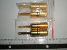 (4 pcs)-Solid Copper 24k Gold Plated Binding Posts 2pr.accepts Banana connectors