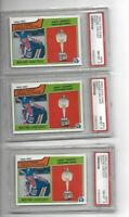 lot of 3 1983 O-Pee-Chee OPC Hart Trophy #203 Wayne Gretzky HOF PSA 8 NM-MINT