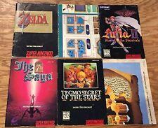 6 SNES Nintendo Manuals ZELDA LINK Lufia II TECMO'S SECRET OF STARS 7th Saga