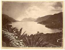 Italie, Bellagio, lago di Como, villa Serbelloni  Vintage albumen print, Tir
