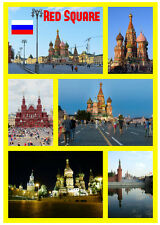 RED SQUARE, MOSCOW - SOUVENIR NOVELTY FRIDGE MAGNET - GIFTS - SIGHTS / FLAGS