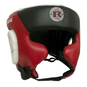 NEW! RevGear Boxing Headgear Head guard -  Red Black White - MMA Head Gear - UFC