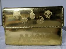 Magic The Gathering GOLD card case holder, magnetic closing, pre-owned RARE