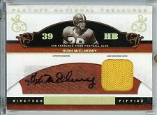 Hugh McElhenny 49ers Autograph Jersey Patch 2007 Playoff National Treasures HOF