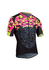 SUGOI RS Training Jersey Pink Black Yellow Mens Size UK L *REF187